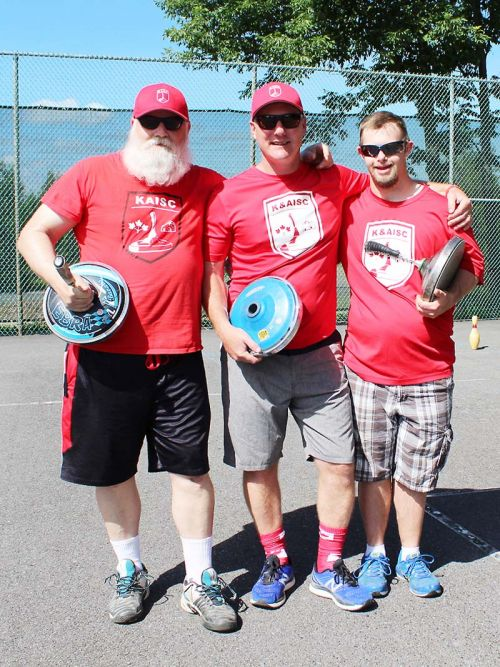 Mike (Ozzie) Osborne, Karl Hammer Jr. and Tyler (Mr. Sydenham) McComish are three quarters of the men's squad going to the world championships in Paraguay. Karl Hammer Sr. is the forth member. Photo/Craig Bakay