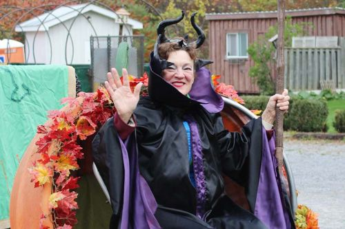 Maleficent was queen of the Festival, bringing up the rear of the parade in a hollowed out pumpkin. Photo/Craig Bakay