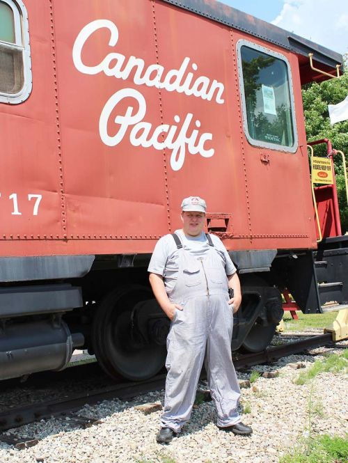 Jonathan Wisteard has become a welcome addition to Railway Heritage Park in Sharbot Lake. Photo/Craig Bakay