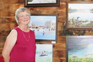 Elaine Farragher has been known to do portraits but of late has been more of a landscape artist, many of which, she says, are inspired by outings on the K & P Trail. Photo/Craig Bakay