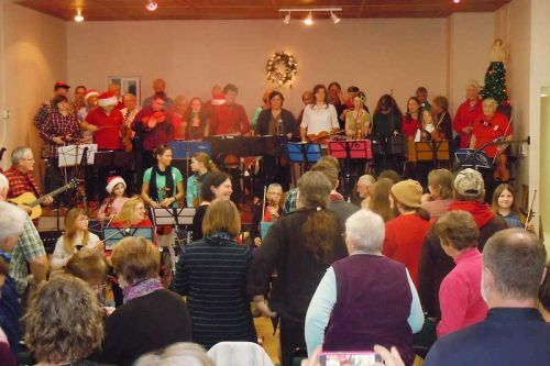 indy McCall takes a final bow at the BSCFO's annual Christmas concert in Maberly on January 3