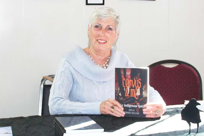 Joelle Hubner-McLean had a book signing for her third young adult novel, Corvus & Me The Indigenous Spirit at the community Hall in Snow Road Saturday. Photo/Craig Bakay