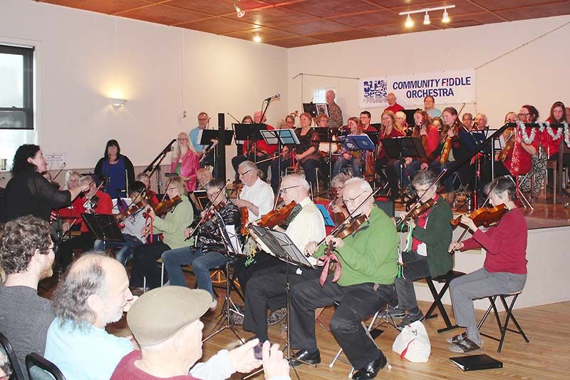 The Maberly Hall was filled with Christmas fiddle music Sunday after as the Blue Skies Fiddle Orchestra held its 19th annual Little Christmas concert. Photo/Craig Bakay