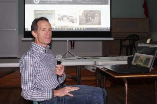 Ken Hook gave a rundown on the Cloyne and District Historical Society's presence on Flickr. Photo/Craig Bakay