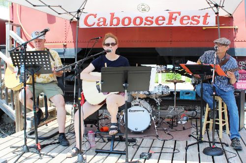 Kora Kamps brought her incredible voice to CabooseFest backed by Jim MacPherson and Gary Giller. Photo/Craig Bakay