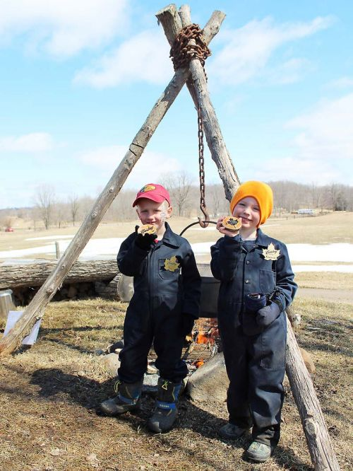 Max and Garrett are poised to become the next generation of Conboy maple syrup producers. Photo/Craig Bakay