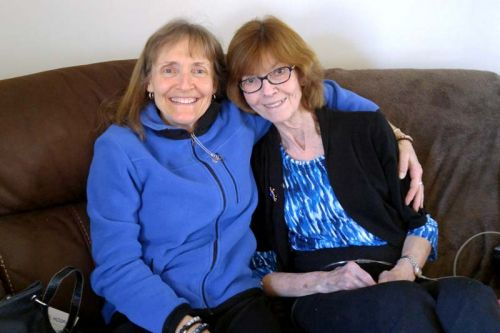 Kari Galasso (left) and client Sharon Frost (right) have become good friends.