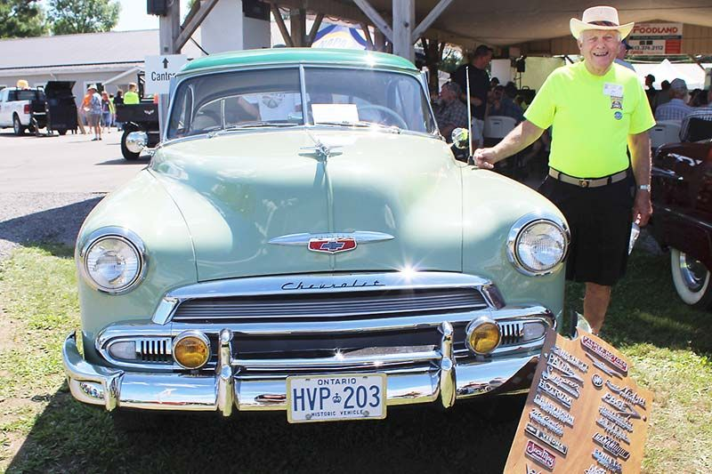 Verona Car Show founder Ed Asselstine with his beloved '51 Chevy. Photo/Craig Bakay