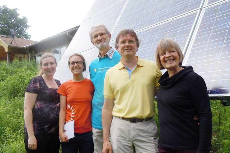 Kristina Inrig, Julie Leach, David Hahn, Mike Brigham and Rena Upitis at the 2014 Community Energy Retreat at Wintergreen Studios