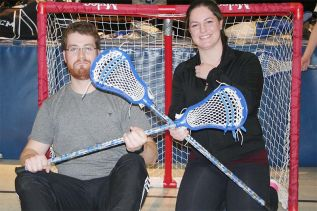James Kelly and Jasmine Dopking run youth lacrosse at Mountain Grove School on Thursday evenings. Photo/Craig Bakay