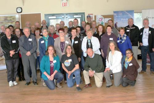 Tourism conference participants at Camp Kennebec on May 4th.