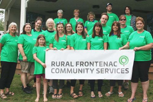 Rural Frontenac Community Services (formerly North, then Northern Frontenac Community Services) unveiled their new name at the annual community barbecue last week .