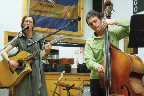 Julia Schall and Shawn Savoie brought their unique modern/folk stylings to the Center Stage Cafe on January 24 at the Sharbot Lake Legion