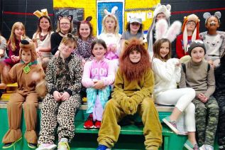 Jerri Jeareat's grade 4 class brought their own lives into her annual theatre project.