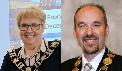 Left: Frontenac County Warden Frances Smith; Right: Kingston Mayor Bryan Paterson