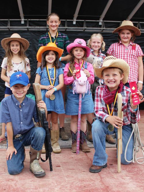 The best dressed cowboy/cowgirl contest has been a long-running part of the Parham Fair.
