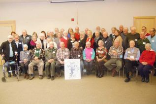 "some of the over 70 contributors to ""At Home In Tay Valley"", a book celebrating the 200-year anniversary and history of Tay Valley Township"
