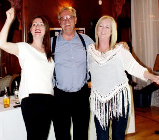 Moments after Global News declared him elected, Lanark-Frontenac-Kingston MPP Randy Hillier celebrated with wife Jane and daughter Chelsea at the Grand Hotel in Carleton Place Thursday night. Photo/Craig Bakay
