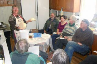 Pat Furlong-Brownlee of Elphin Gold Farm showed 11 participants how to make their own farmers cheese at a special workshop held at the Sharbot Lake Winter Farmer Market at Oso hall on January 19. The next market will take place there on Saturday February 2.