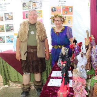 Bill McCormick and Faye Wan welcomed visitors to the Sheba's Haven Rescue booth at Fantasy In The Forest on the weekend. Photo/Craig Bakay