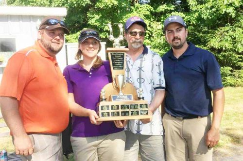 The members of the first place team at the tournament  were Paul Andrews, Hailey Andrews, Marty Lessard and Matt Lessard