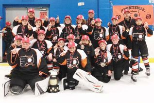 The Frontenac Flyers Atom rep team took the OMHA CC Championship for 2017-2018. Photo/submitted
