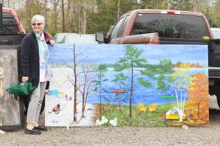 "Cathy Owen's mural is a tribute to the township motto - ""4 seasons, more reasons""."