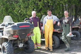 "The Ompah ATV run has been attracting riders from all over, like Brian Stoate of Woodlawn, Herb Schilger of Golden Lake and Mike Levesque of Dunrobin. ""It was well worth the trip down here,"" said Levesque. Photo/Craig Bakay"