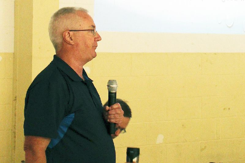 SLPOA vice-president Guy MacLeod gives his presentation at  the Annual General Meeting Saturday in Sharbot Lake.