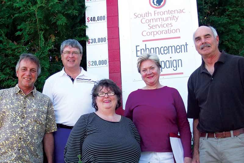 L to R: some of the Campaign Committee: Mark Segsworth, David Townsend, Christine Kennedy, Kathryn O'Hara, Wes Garrod.