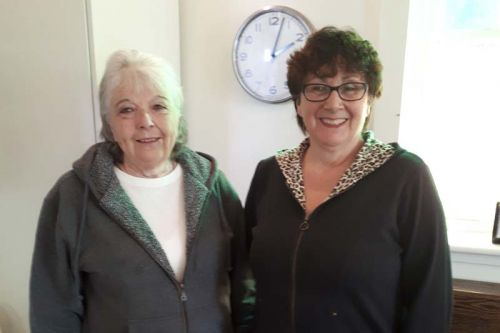 Deb Ivey and Carol Hillier today