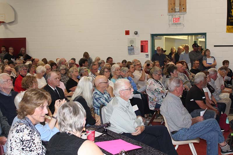 Packed house for relatively calm Tay Valley candidates' debate