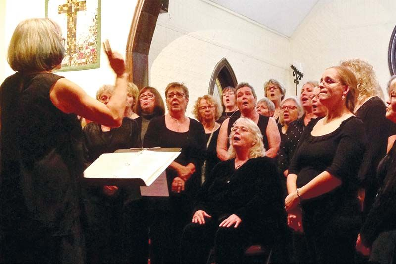 Shout Sister were one of the feature performers at Trinity United Church in Verona last Saturday night