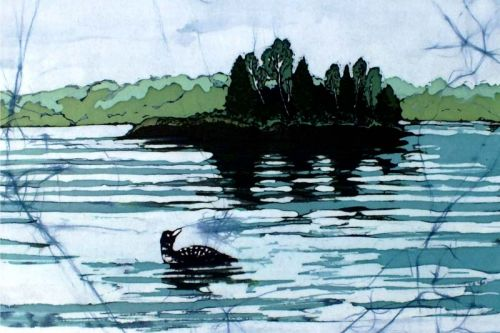 Loon on Gull Lake by Sarah Hale