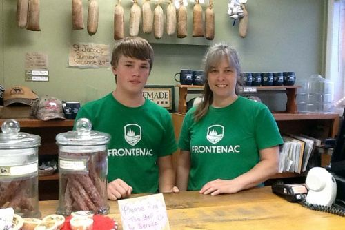 Kim Perry with her son Grant were running the store this week.