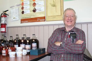 Gordon Patterson donated the maple syrup in Maberly Saturday morning.