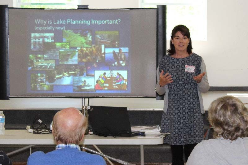 Alyson Symon of Mississippi Valley Conservation Authority spoke on the importance of lake planning. Photo/Craig Bakay